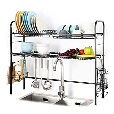 2 Tier Large Over The Sink Dish Drying Rack from