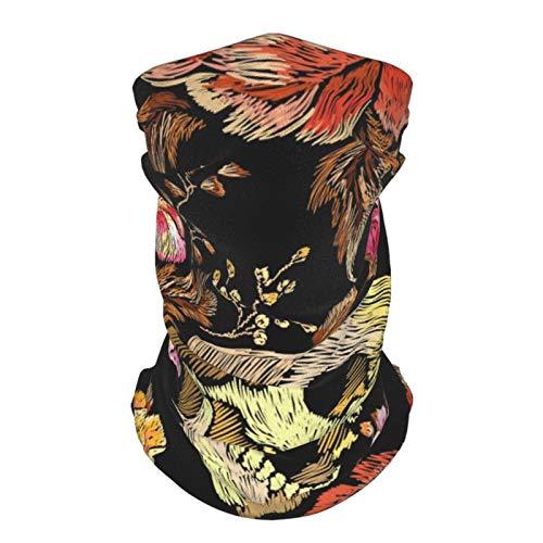 Mkh Toalla facial de seda transpirable con diseño de calaveras y mariposas para adolescentes, para deportes al aire libre, resistente al viento, transpirable