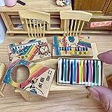 TBoxBo 12 piezas 1:12 caja de muñecas miniatura Crayon Set lápices de colores decoración de casa de muñecas mini lápices de colores accesorios miniatura modelo escena exhibición juguetes regalo