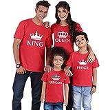 Camisetas Familiares King Queen Princess Camiseta Familiar Padre Madre Hijo Mama Papa Hija Camisetas Estampadas Divertidas para Familia Personalizadas Camisas Hombre Mujer Niño Niña Tops Oversize
