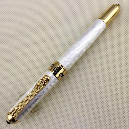Gullor Hot pen Jinhao 1000 Executive Tintenroller goldenen Drachen Clip Metall-Kugelschreiber