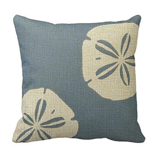 Cushion Case Decorpillow Mode Denim Bleu Sable dollars nautique Taie d'oreiller