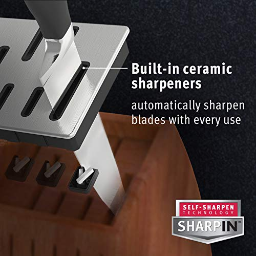 Calphalon (1932932) Classic Self-Sharpening 15-Pc. Cutlery Knife Block Set,Brown