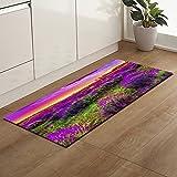 OPLJ rutschfeste Küchenmatte Bodenmatte Teppich Lila