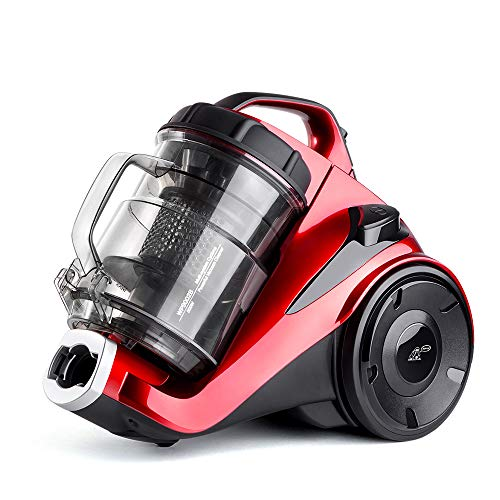PUPPYOO WP9002BEU, Aspirateur Traineau, Red, 800 W, 2.5 liters, 80 décibeles