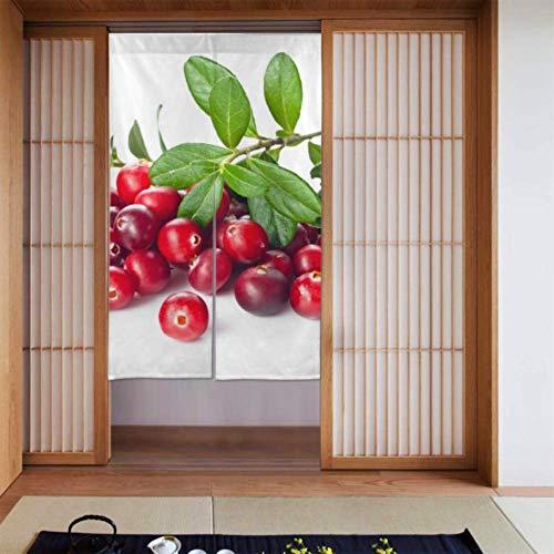 LONGYUU Küche und Vorhänge Leuchtend rot modische Cranberry Vorhang Kinder Schlafzimmer Fenstervorhang für die Küche Lange Art für zu Hause Küchentür Dekoration 34 x 56 Zoll (86x143cm)