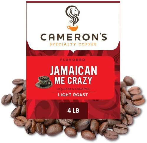 Cameron s Coffee Roasted Whole Bean Coffee Flavored Jamaican Me Crazy 4 Pound product image