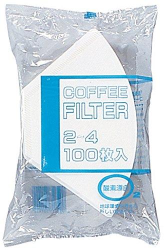 BONMAC ボンマック 酵素漂白フィルター 100枚入り 2~4杯用 NB-200S #816126