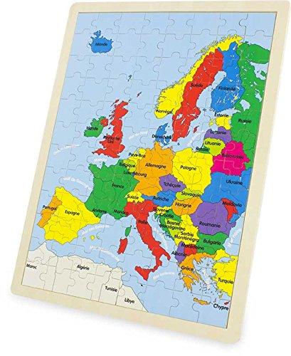 Odysseus – puzzel, Europa, kaart, 3973 meter
