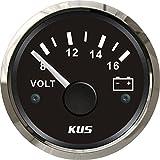 KUS impermeable voltímetro medidor de voltaje 12V/8-16V 52mm (2 ')...