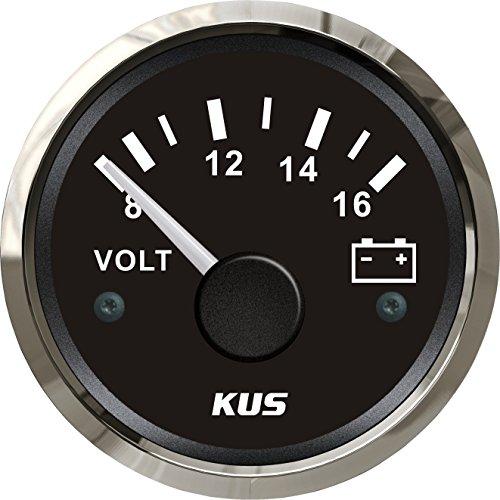 KUS impermeable voltímetro medidor de voltaje 12V/8-16V 52mm (2