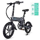 FIIDO D2 Vélo Électrique Pliant, Confortable et lmperméable, 36V 250W Batterie au Lithium à Grande Capacité,Speed Shift et Modèles Généraux (D2 7.8Ah, Gris)