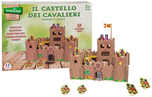 Globo Toys 36577 Legnoland Château en Bois avec 12 Personnes et Accessoires