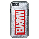 Card Holder/Mirror/Door Bumper Case with Avengers Character for Samsung Galaxy S10+ Plus (Marvel Logo - Siver)