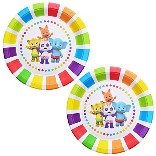 Plates for Word Party Plates Birthday Disposable Plates, Birthday Party Supplies Decorations 24 Packs