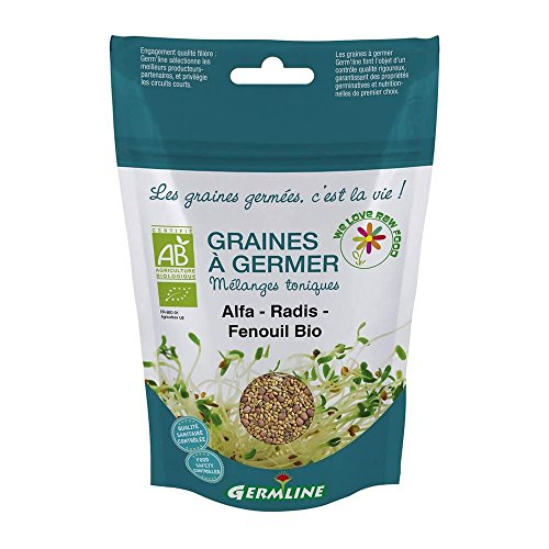 semillas Bio para germinados, Germline - Germinados: Alfalfa - Rábano - Hinojo