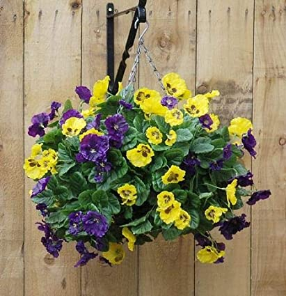 Fake Hanging Basket for In or Outdoors