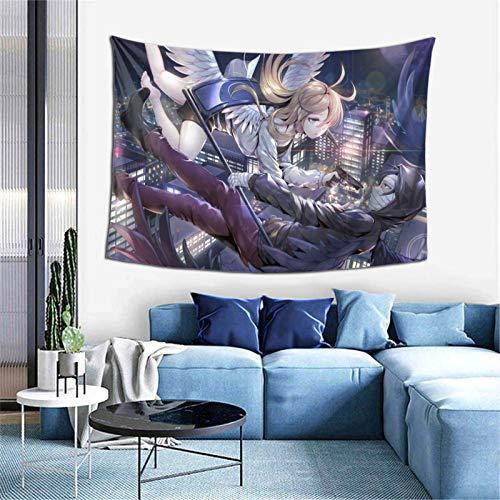 YUNYANG Tapiz de pared con diseño de ángel de la muerte y anime, para fiestas, dormitorios, decoración del hogar, 40 x 60 pulgadas