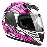 Typhoon Youth Full Face Motorcycle Helmet Kids DOT Street - Ships Same Day - Pink (Medium)