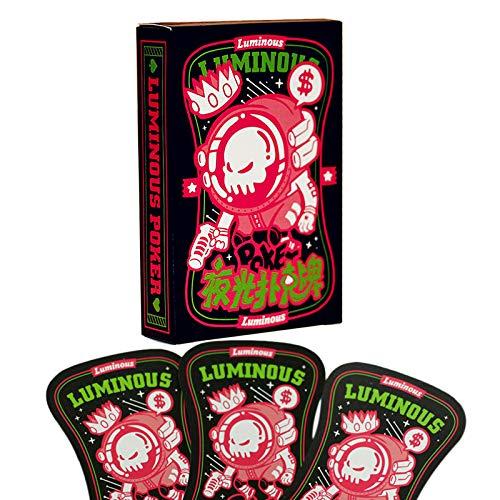 Dcolor 54 Karten Neueste Leuchtende Spielkarten Fluoreszenz Nacht Uhr Poker Karten Brett Spielbar Nacht Club N?chte Poker