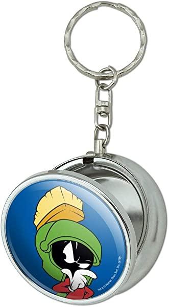 GRAPHICS MORE Looney Tunes Marvin The Martian Portable Travel Size Pocket Purse Ashtray Keychain With Cigarette Holder