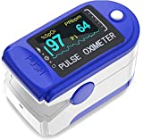 ZapTech ® ZP02 Fingertip Pulse Oximeter Digital LED Screen Blood Oxygen Saturation Monitor, SpO2 and Heart Rate Monitoring