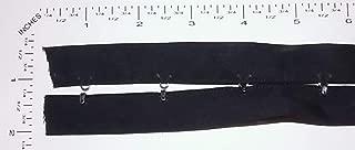 Hook and Eye Trim - Silver -Black Cotton Tape Ribbon- 2 yrds (Pair)