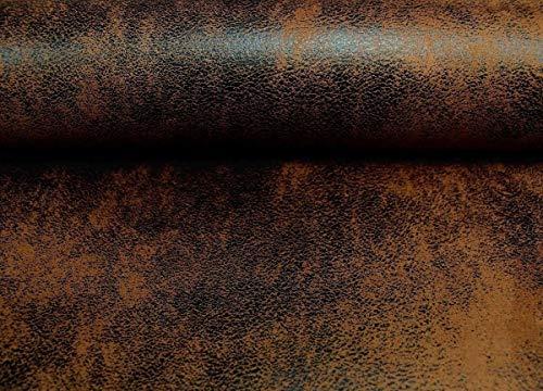 MICROFASER APOLLO Brown Antik Kunstleder Optik Wildleder Waschleder Polster