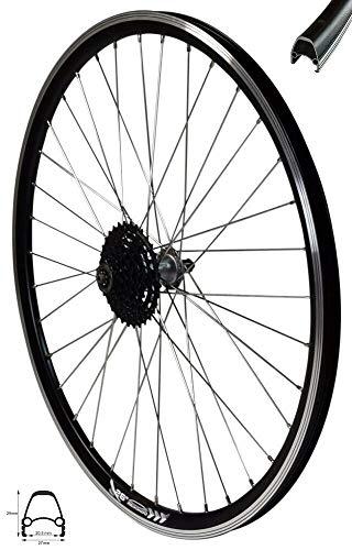 Redondo 26 Zoll E-Bike Hinterrad Laufrad 4D Felge Schwarz + 8-Fach Shimano Kranz