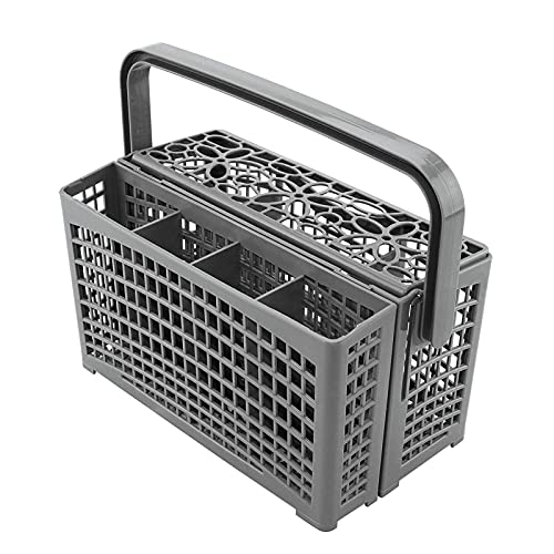Hotsel Cesta para Lavavajillas Cesto para Cubiertos Universal con Innovador Sistema 2 En 1 para Todos Los Lavavajillas. con Plástico Resistente Al Calor Y Rejilla De Base Extra Resistente