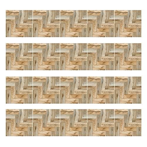 SZBLYY Pegatinas baldosas 20pcs imitación de Madera Grano de Grano Piso Pegatina de Pared DIY Mosaico Autoadhesivo baño Pegatinas de Azulejos (Color : C)