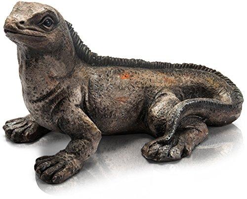 CHICCIE Figurine décorative Leguan 44 cm Magnesia Jardin Gecko Marron Gris