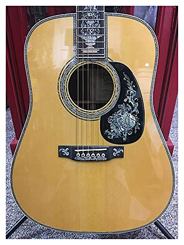 chudana Solid Adirondack Top All Solid Wood Dreadnought Guitar Deluxe Full Professional Acoustic Guitar Suitable for Players at All Stages. Wooden Guitar