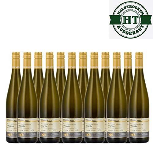 Weißwein Nahe Scheurebe Weingut Roland Mees Kreuznacher Rosenberg Qualitätswein halbtrocken (12 x 0,75l)