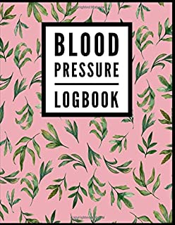 Blood Pressure Log Book: Peony Floral Flower Print (2) - Medical Monitoring Health Notebook - For Daily Personal Recording...