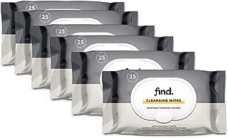 Marchio Amazon - find. Salviette infuse col carbone vegetale - 6x25 salviette (150 salviette)