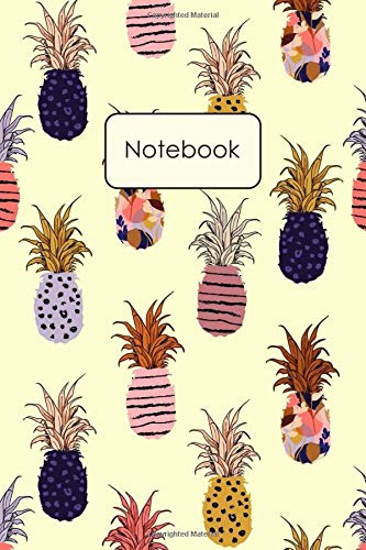 Notebook: Pineapples Painting Blank Lined Journal To Write...