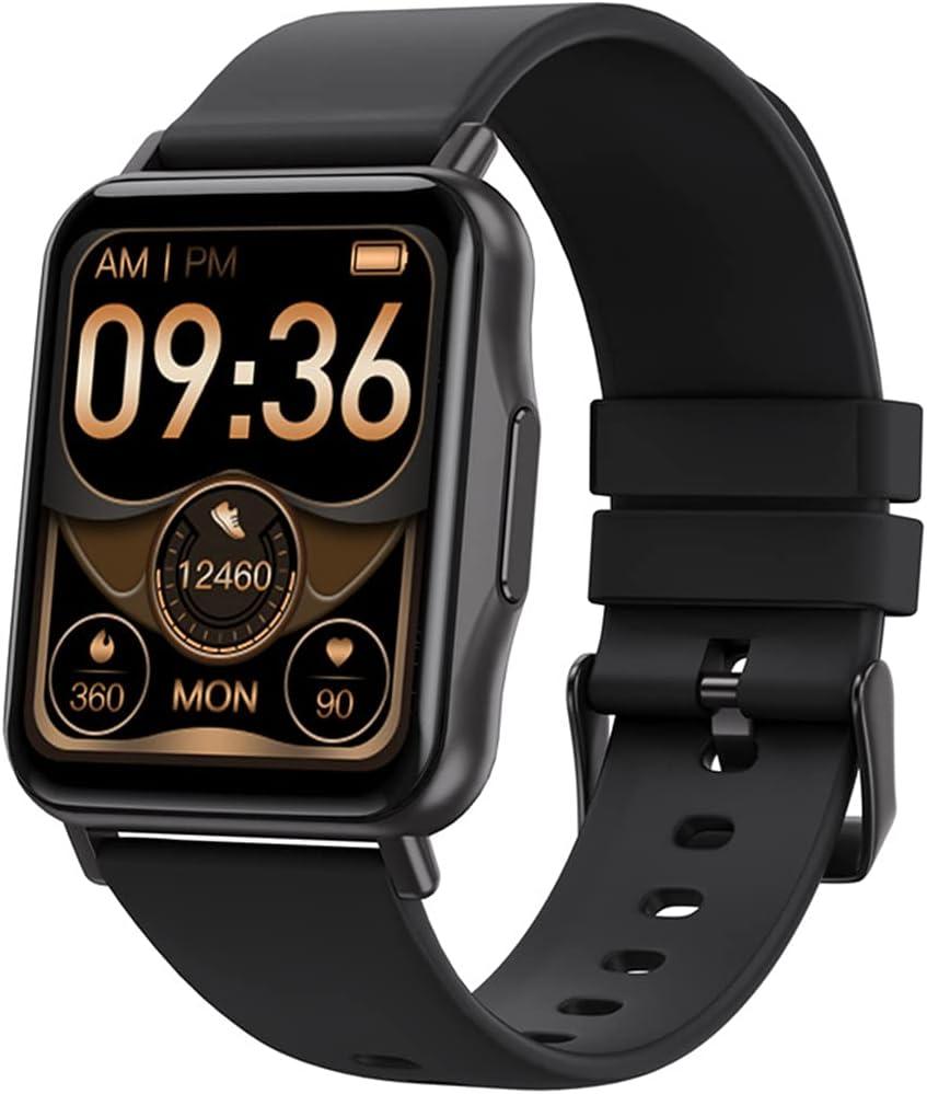 QNMM Reloj Inteligente Z18 Hombres Mujeres, Pantalla a Color TFT de 1,69 IP67 a Prueba de Agua Rastreador de Ejercicios Health Watch W Monitor de Oxígeno/Ritmo Cardíaco Sangre para Android iOS