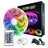 GAOAG - Cinta LED, 5 m, 150 ledes, kit de iluminación para tiras IP65, impermeable, neones LED para decoración de casa, jardín, fiesta