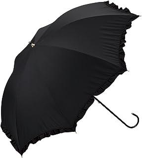 ワールドパーティー(Wpc.) 日傘 長傘  ブラック 黒  50cm  レディース 遮光クラシックフリル 81-1349 BK