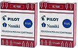 Pilot Namiki IC100 Cartucho de tinta para pluma estilográfica, azul, 12 cartuchos por paquete (paquete de 2)