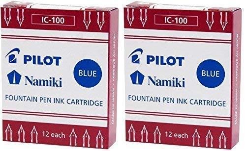 PILOT Namiki IC50 Füllfederhalter Tintenpatronen 12er-Pack Blau (2er-Pack)