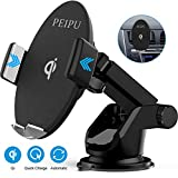 PEIPU Wireless Car Charger Mount,Car Mount,Windshield Dashboard Air Vent Phone Holder,10W/7.5W Fast Qi Wireless Car Charger,Compatible with iPhone 11/11 Pro/11 Pro Max/Xs MAX/XS/XR/X,Samsung/S10/S9