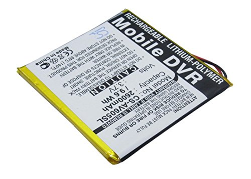 Battery2go - 1 year warranty - 3.7V Battery For Archos AV605 Wifi 20GB, AV605 Wifi 40GB, AV605 40GB, AV605 Wifi 60GB