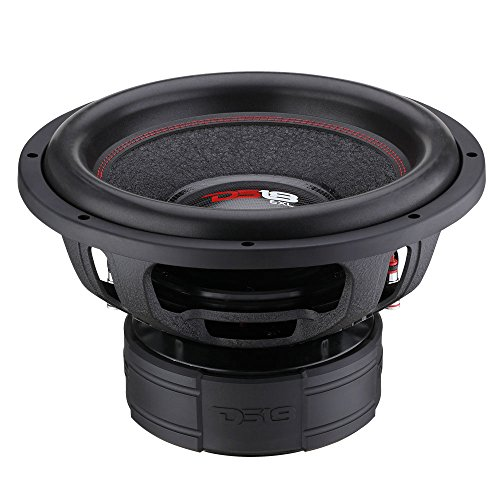 "DS18 EXL-XX15.2D Subwoofer in Black - 15"" Speaker, 4,000 Max Power, 2,000 RMS Power, Fiber Glass Dust Cap, Red Aluminum Frame, Dual Voice Coil 2+2 Ohm Impedance, Treated Rubber Edge (1 Speaker)"