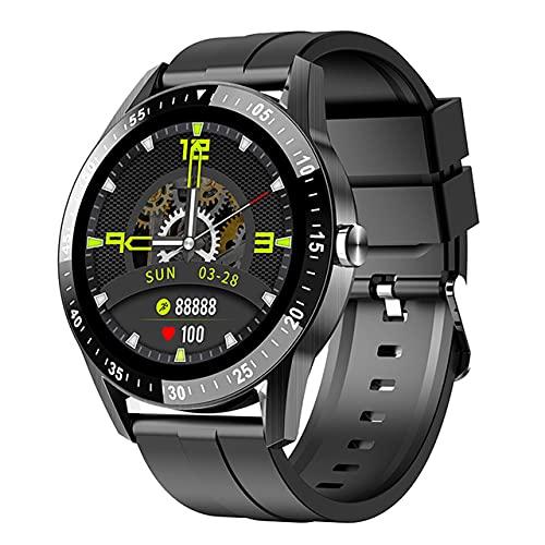 LSQ S1 Smart Watch Llamadas Bluetooth Llamadas SmartWatch Hombres Pulsera Fitness Sport Tracker Monitor de Ritmo cardíaco Impermeable para Android iOS,Negro
