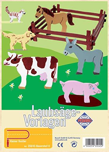 Pebaro Laubsägevorlage aus Sperrholz Motiv Bauernhof II, Holz, DIN A4