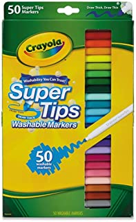 Crayola 50 支可水洗*尖头马克笔 50 种颜色 1包