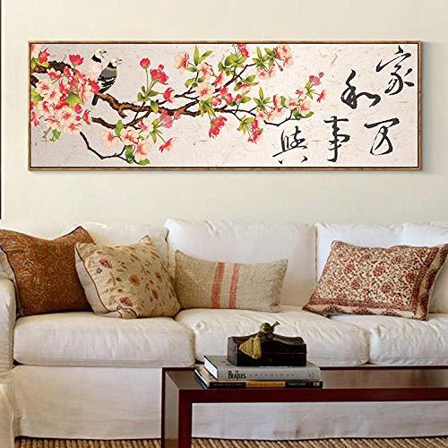 PLjVU Arte de Pared Impreso en HD, Lienzo al óleo, Cartel de Hombre Mono, Mural de habitación para niños, decoración de Dormitorio Familiar de Anime japonés120x45cm