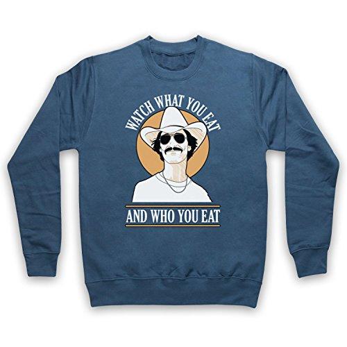 Dallas Buyers Club Watch What You Eat Sweat-Shirt des Adultes, Airforce Bleu, 2XL